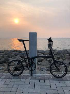 Brompton black S6E, upgrade semi BE