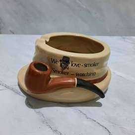 Asbak Rokok Topi Cangklong Porselen Jadul Mekasa World Wide Collection