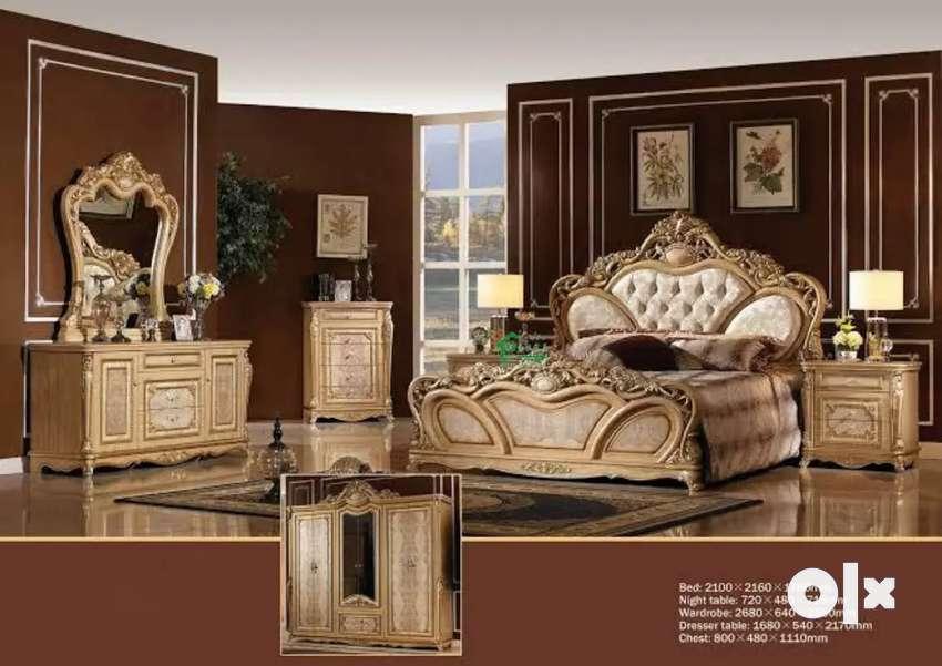 Handcrafted beautiful Spanish wedding bedroom furniture set 0