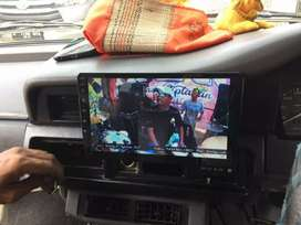 TV Mobil 9inch Kijang Super Android Maps TikTok Youtube Bonus masang