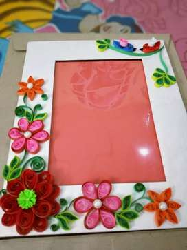 Quilling photo frames 3D flowers hand made