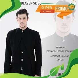 Blazer Stylish Korean Like a Vest Black Series