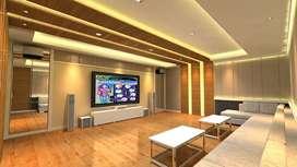 Jasa peredam suara ruangan akustik design interior studio musik & film