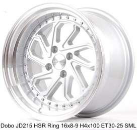 Dobo-JD215-HSR-Ring-16x8-9-H4x100-ET30-25-Silver-Machine-Lip1