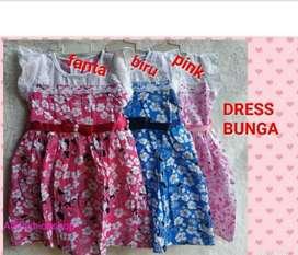 Dress bunga anak  1/3 tahun