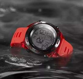 Jam tangan digital original Bostanten 3012K Kondisi New Red