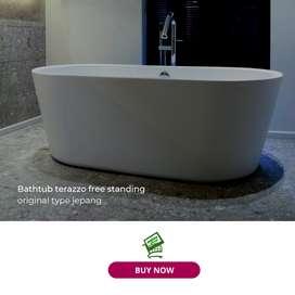 Jual bathtub teraso marmer free standing type jepang 130x70x55