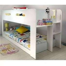 Tempat tidur / depan anak tingkat, kayu jati, finis duco, freeongkir