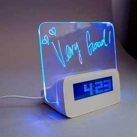 Jam Digital LED Memo / Jam Digital Meja / Jam Meja Digital - TANPA BAT