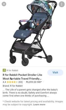 R for Rabbit kids Pram cum stroller