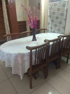 6 seater wooden Dining table with high quality wood