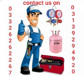 Split A.C installation service repairing and gas charging in peshawar