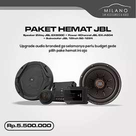 Paket Audio JBL Lengkap Power, Subwoofer, Speaker Include Instalasi