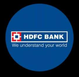 Need for hdfc bank payroll joining male and female 28 candidet
