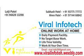 "Work from home on Data Entry in ""Rajkot"""