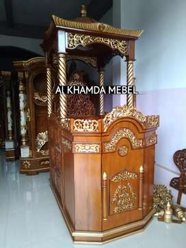 Ready Mimbar Masjid Material Kayu Jati Berkualitas @524