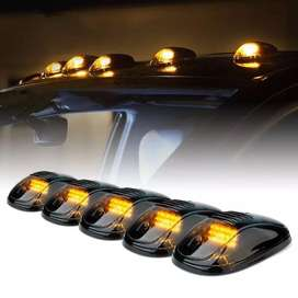 Hummer type roof marker lights smoked yellow led car roof top lights