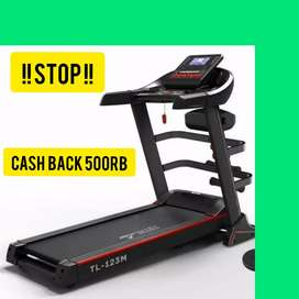 big treadmill elektrik incline TL 123M F-212 alat fitnes olahraga