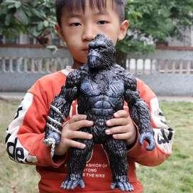 Action figure mainan king kong gorila skull island miniatur toy