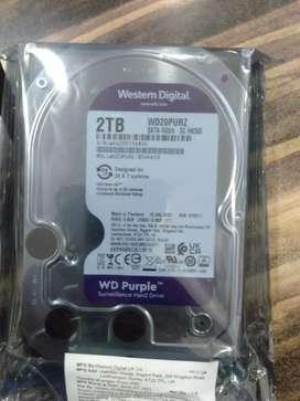 Wd 2tb servlance hdd cctv camera hdd 3year warranty @4450/-