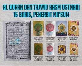 Mushaf Al Quran Ma'sum non terjemah Rasm Utsmani dengan harga Murah