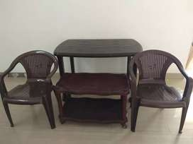 Plastic Dinning Table and chairs