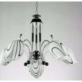 lampu hias gantung minimalis dekorasi ruang tamu 6666/5+1 bkch+ B ID35