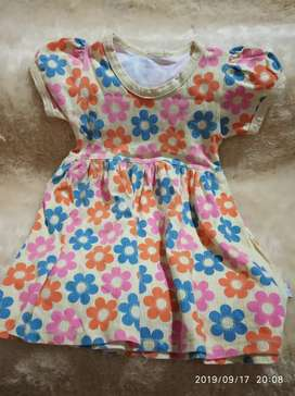 Dress bunga anak cewek lucu murah 3 tahun