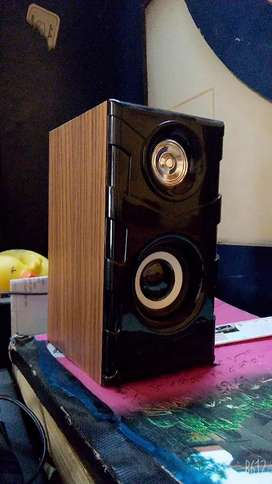 Base speakers wooden cover
