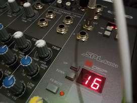 Mixer SPL audio 6 channel, digital efek 99