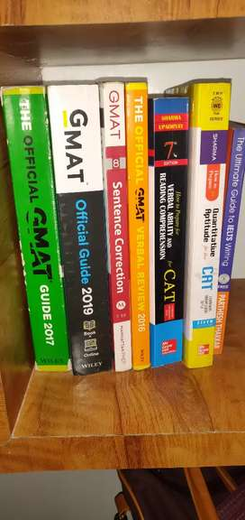 CAT GMAT books and material