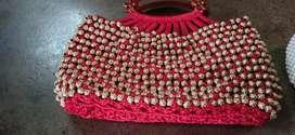 Hand bag made with beads