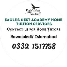 Qualified and Experienced Home Tutors Available