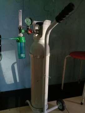 Tabung oksigen dan regulator  merk GEA