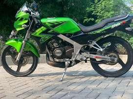 Jual motor sport 2 tak kawasaki ninja r 150 hijau pjk off 2018 murah