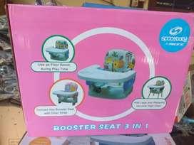Meja makan set 3 in 1 spacebaby