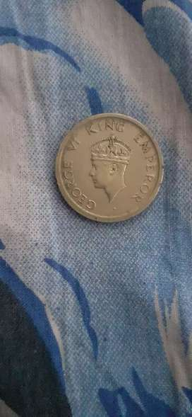 One rupees coin 1947