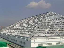 Menerima pemasangan rangka atap baja ringan.