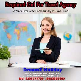 Required Experience Girl / Boy For Job Travel Agency