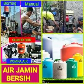 Tukang sumur bor, Pompa air/sanyo,pasang tanki air(tandon)instalasi.
