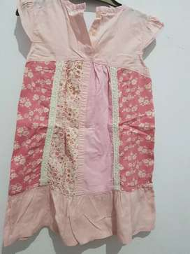 Terusan dress anak curly 4 th