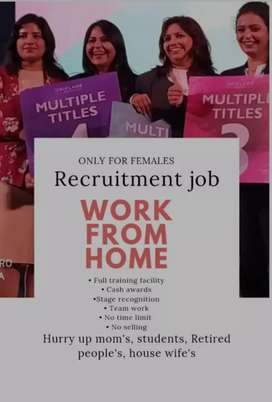 Work from home job for only women
