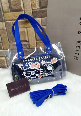 Charles and Kitty 2 pcs Jelly Transparent Bags