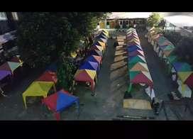Tenda cafe peneduh jualan stand 2x2 bazar event pengirim dri jakarta