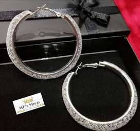 #New #Designed #Beautiful #Silver #Round #Earrings