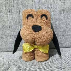 Souvenir handuk anjing kotak mika
