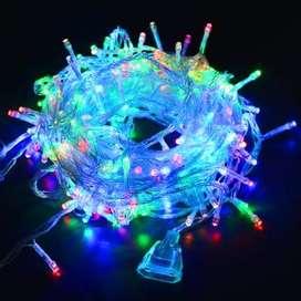 Lampu natal led dekorasi lampu tumblr dgn colokan sambungan biru