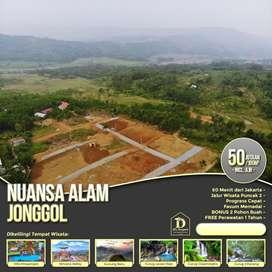 Tanah kavling murah di Bogor timur, view gunung dan nempel jl raya