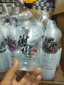 Sablon gelas cup plastik untuk usaha minuman