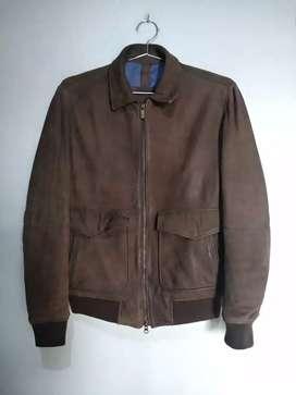 Jual jaket kulit Massimo dutti